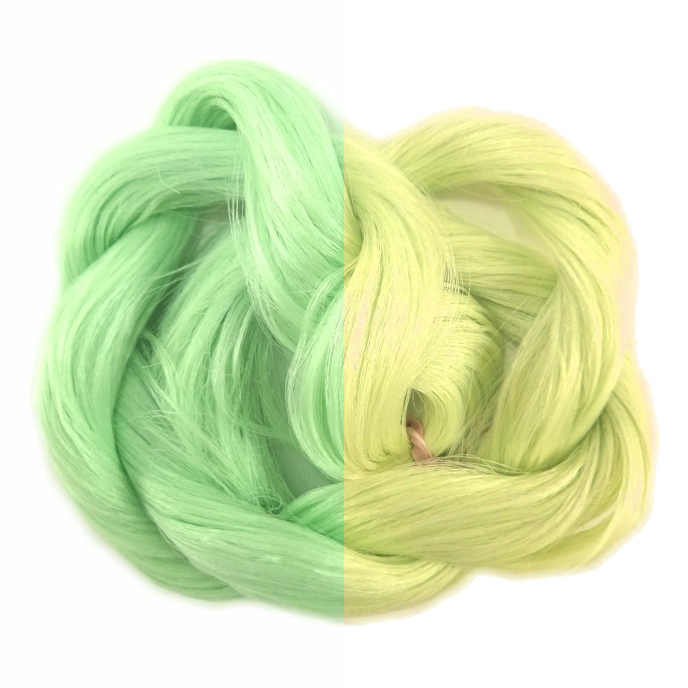 Thermal Color Change Hair, Pastel Green/Yellow