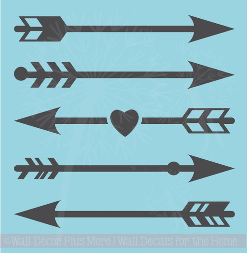 Arrow Designs Vinyl Wall Decals for Children's Décor Modern Graphics