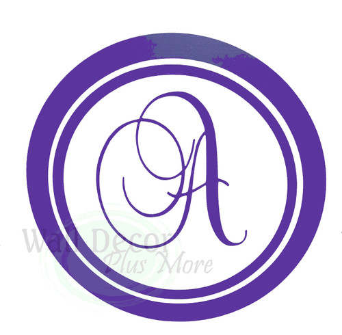 Personalized Monogram Letter Wall Stickers Vinyl Decals Custom Graphic