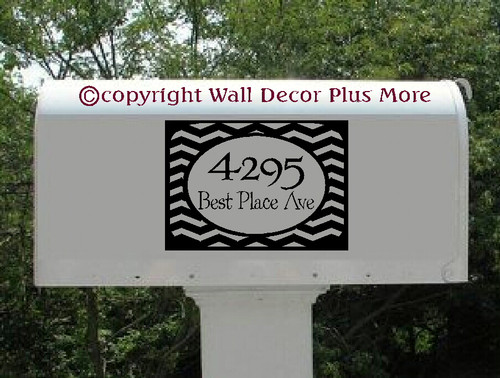 Personalized Address Stripe Mailbox Sticker Decal