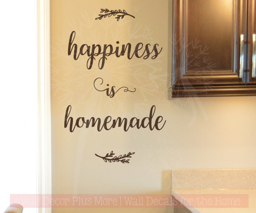 Happiness is Homemade Kitchen Wall Quotes Decals Stickers as Home Decor-Chocolate