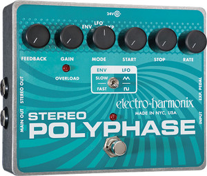Electro Harmonix    Stereo Polyphase  Analog Optical Envelope/LFO Phase Shifter