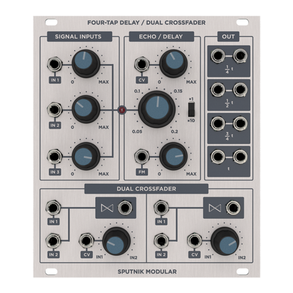 SPUTNIK – FOUR-TAP DELAY / DUAL CROSSFADER
