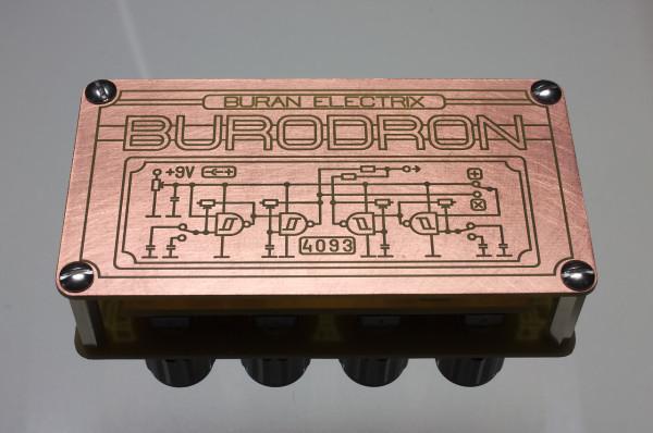 Burodron NG backside with image of Burodron function schematic