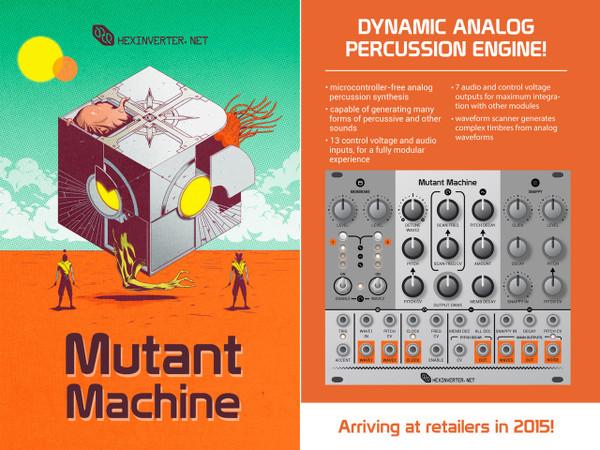 Hexinverter Électronique THE MUTANT MACHINE Dynamic Analog Percussion Engine