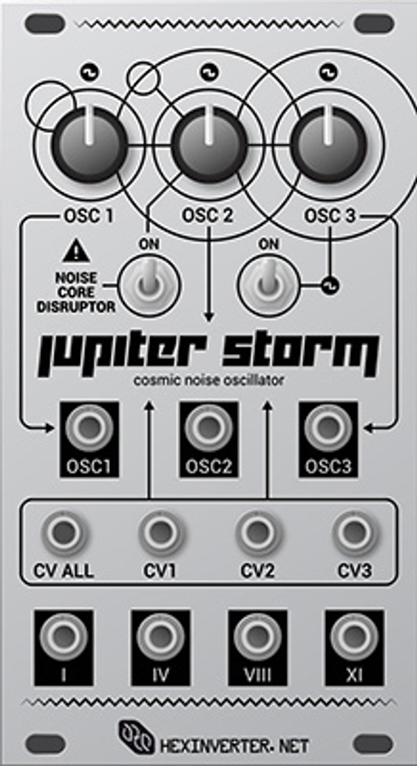 Hexinverter Électronique JUPITER STORM Experimental Voltage Controlled Oscillator
