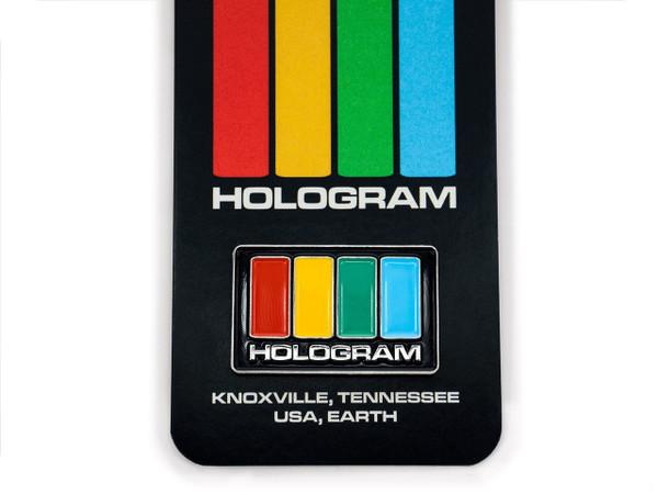 "HOLOGRAM ""HOLOGRAM""ENAMEL PIN"
