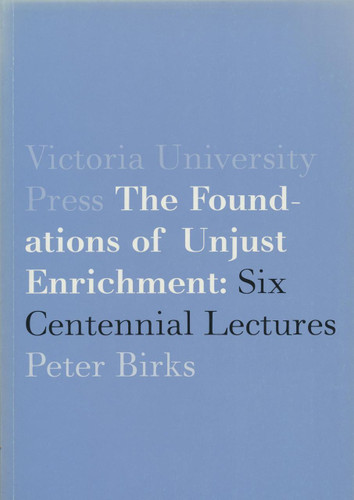 Foundations of Unjust Enrichment, The