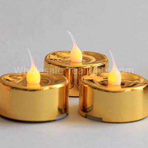 Flameless LED Gold Metallic Tealight - 3 Pack
