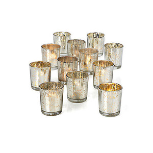 Set of 12 Silver Mercury Votive Holders