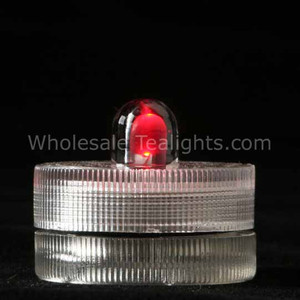 Red Waterproof Submersible Tea Light - 10 Pack