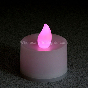 Flickering Pink Flameless TeaLight Candles - 12 Pack