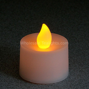 Non - Flicker Amber Flameless TeaLight Candles - 12 Pack