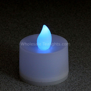 Non - Flicker Blue Flameless TeaLight Candles - 12 Pack