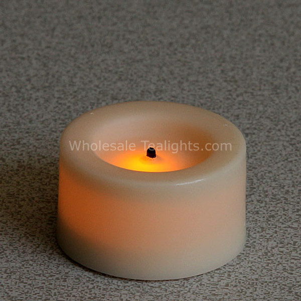 .75 Inch Real Wax Flameless LED Tealights - 9 Pack