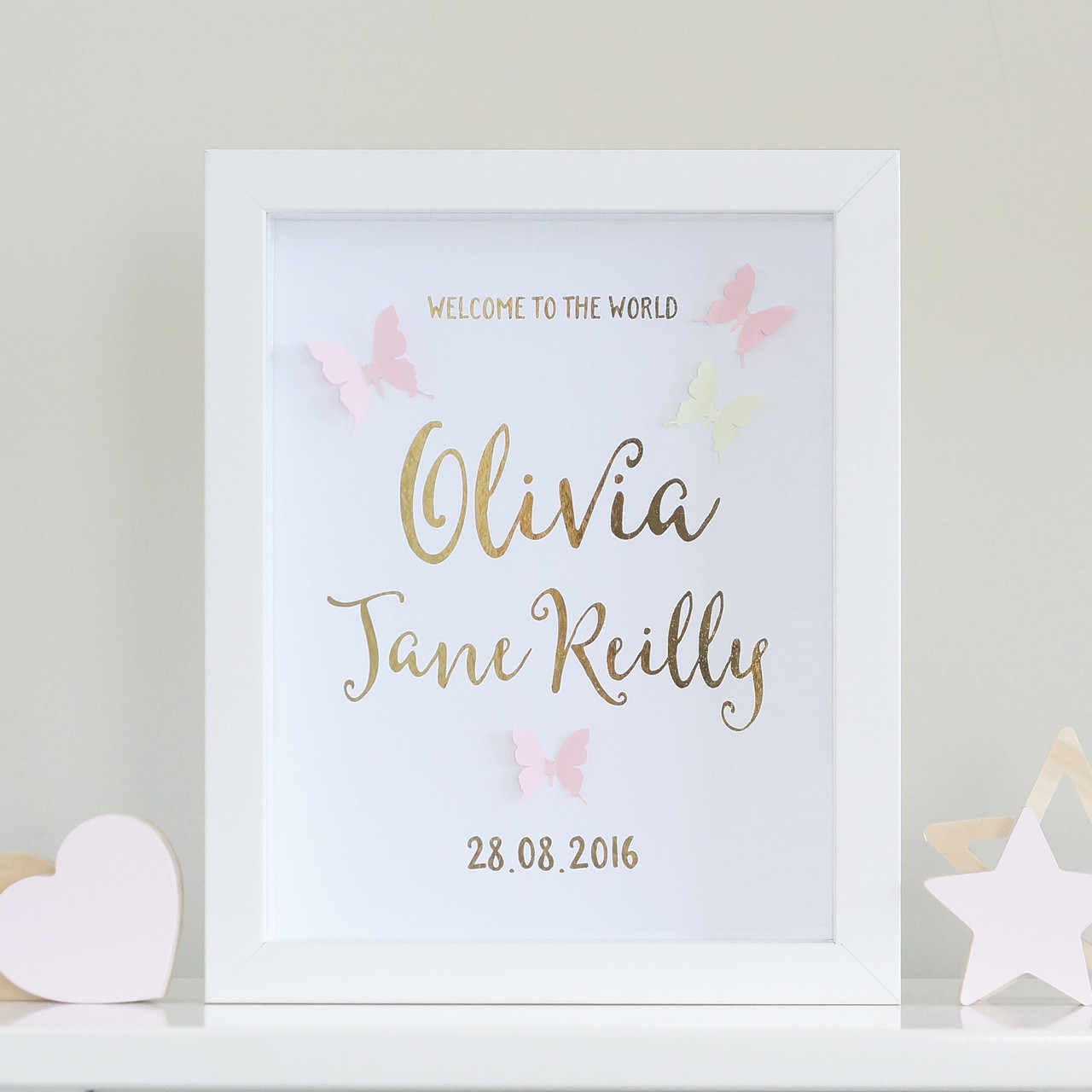 baby announcement frame - Selom.digitalsite.co