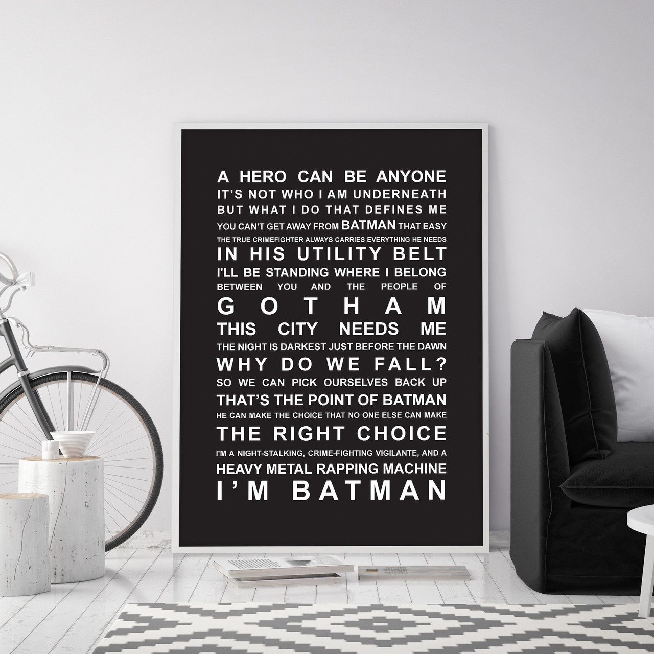 inspirational artwork for office batman movie quotes