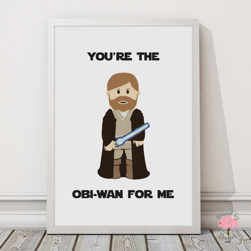 Star Wars Obi-Wan Print with optional Australian-made white timber frame