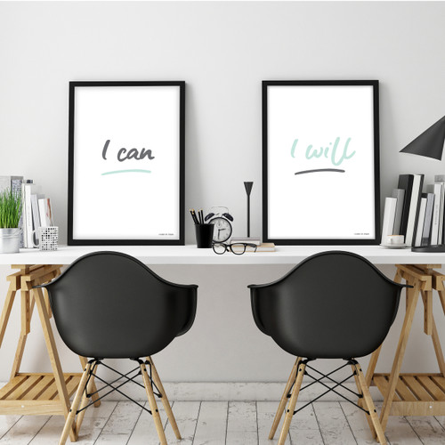 I Can and I Will Set of 2 Instant Digital Downloadable Prints