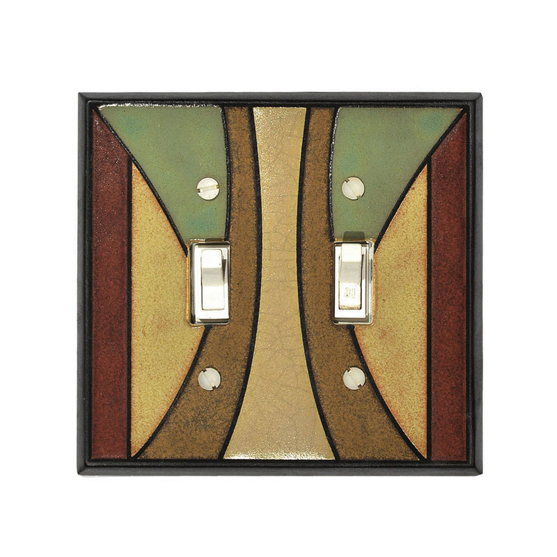 Craftsman Ceramic Tile Switchplate - Double Toggle