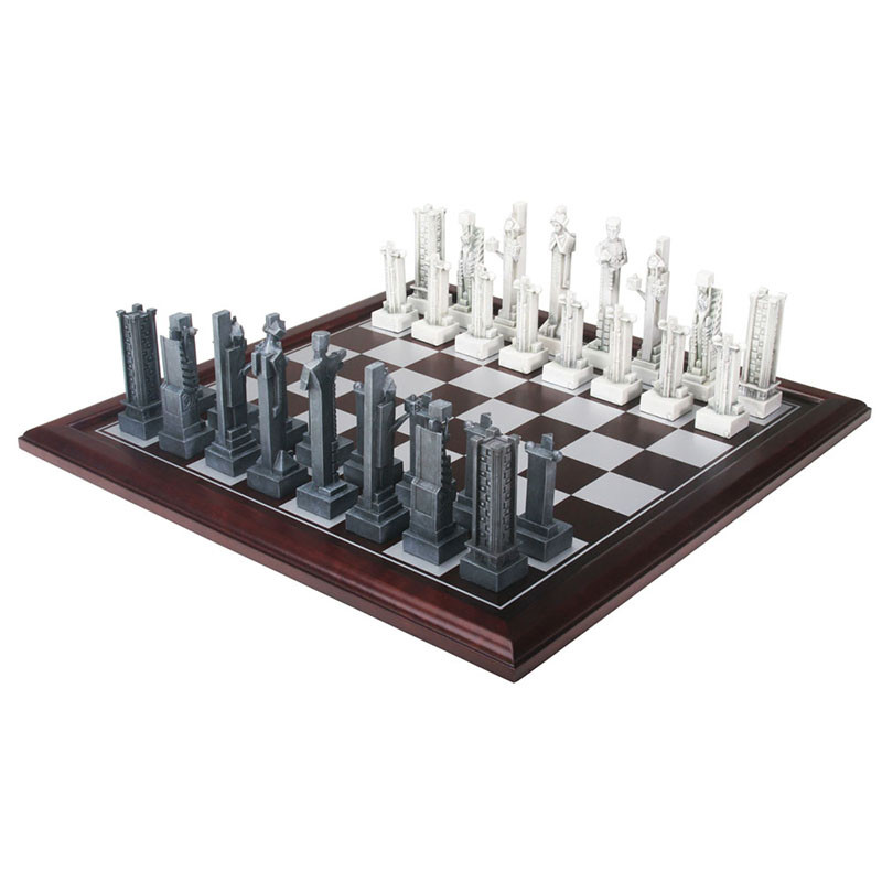 Frank Lloyd Wright Midway Gardens Chess Set with Chess Board