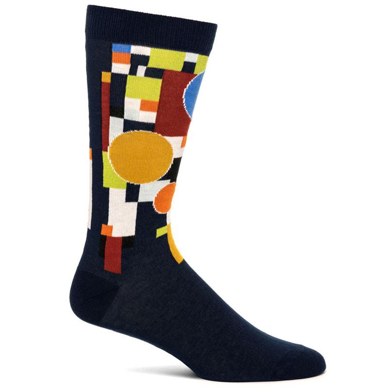 Frank Lloyd Wright Men's Coonley Playhouse Socks - Navy