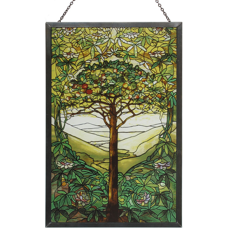 Tiffany Tree of Life Stained Glass Panel