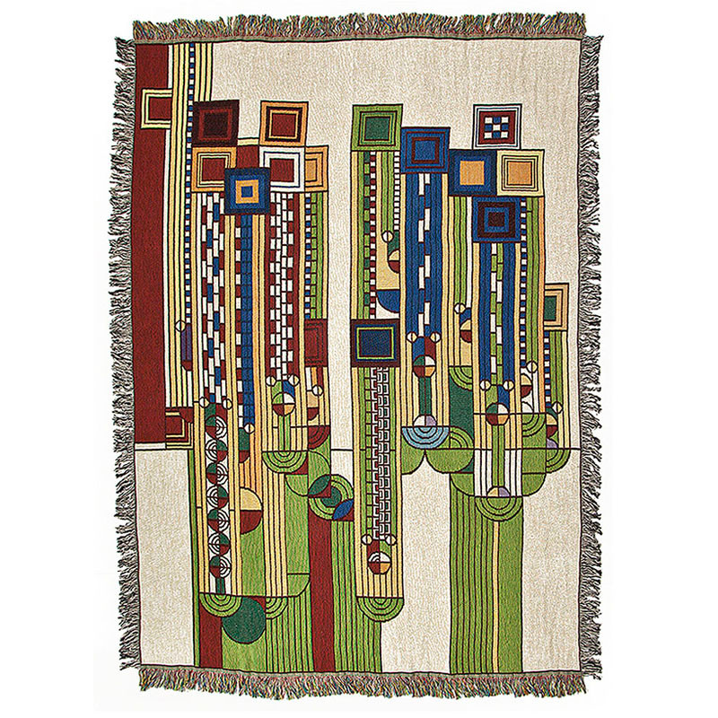 Frank Lloyd Wright Saguaro Tapestry Throw