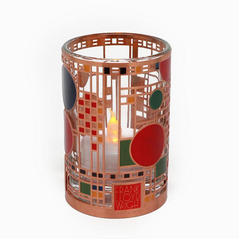 Frank Lloyd Wright Coonley Playhouse Copper / Enamel Votive