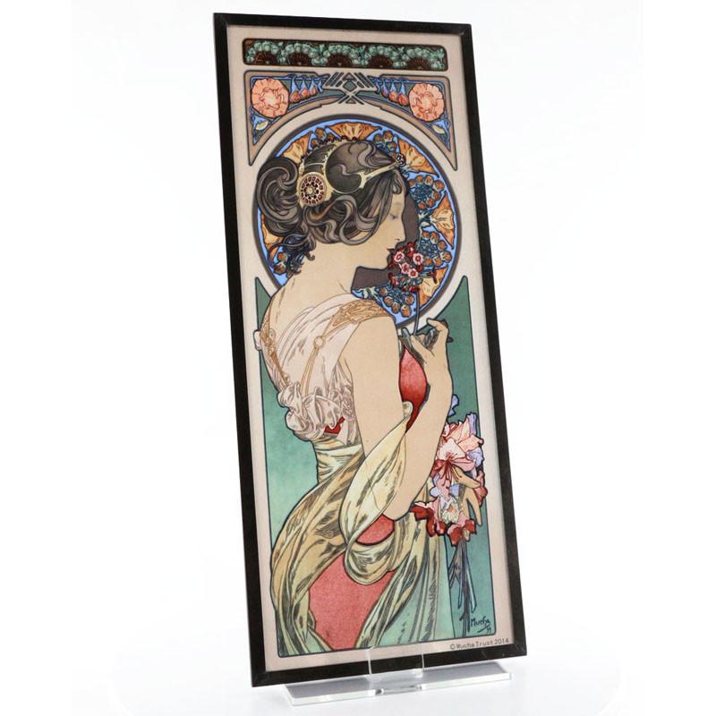 Alphonse Mucha Primrose Stained Glass