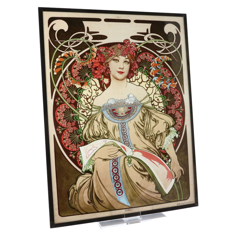 Alphonse Mucha Reverie Stained Glass