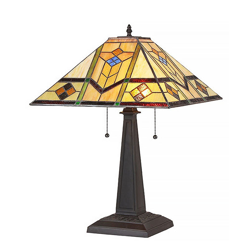 Arts & Crafts Oliver Stained Glass Table Lamp