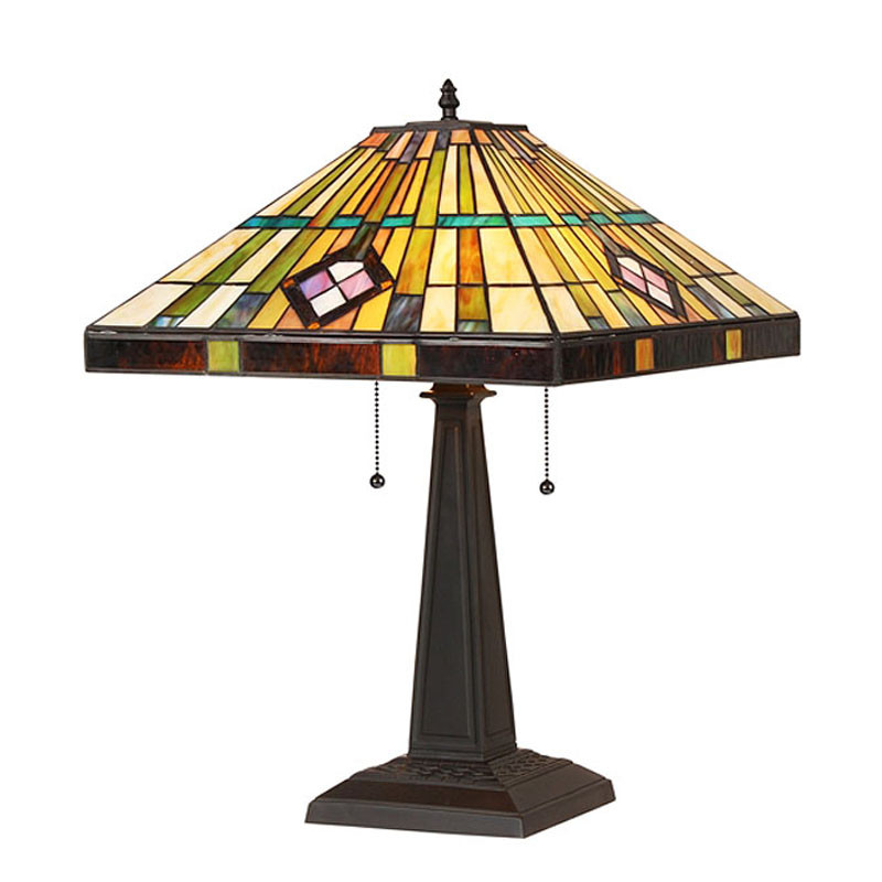Arts & Crafts Martin Stained Glass Table Lamp