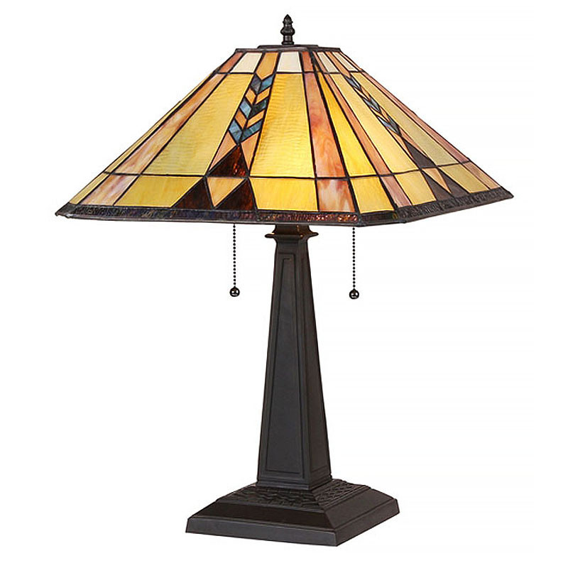 Arts & Crafts Kent Stained Glass Table Lamp