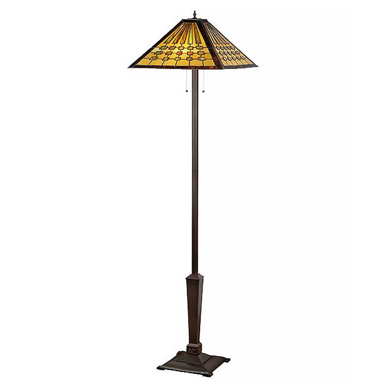 Chadrick Arts and Crafts Stained Glass Floor Lamp