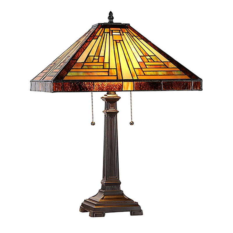 Innes Arts & Crafts Stained Glass Table Lamp