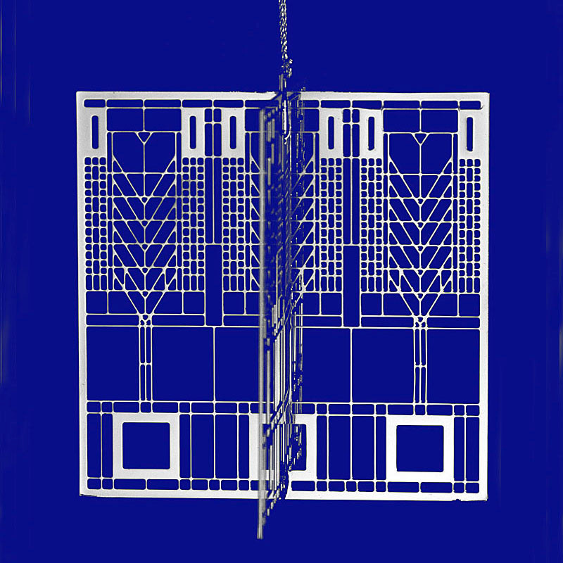 Frank Lloyd Wright Design Tree of Life Christmas 3D Ornament