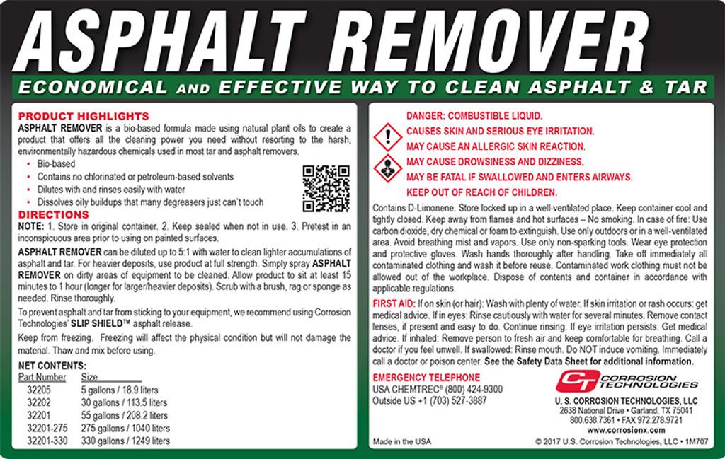 Asphalt Remover tar and asphalt cleaner / remover