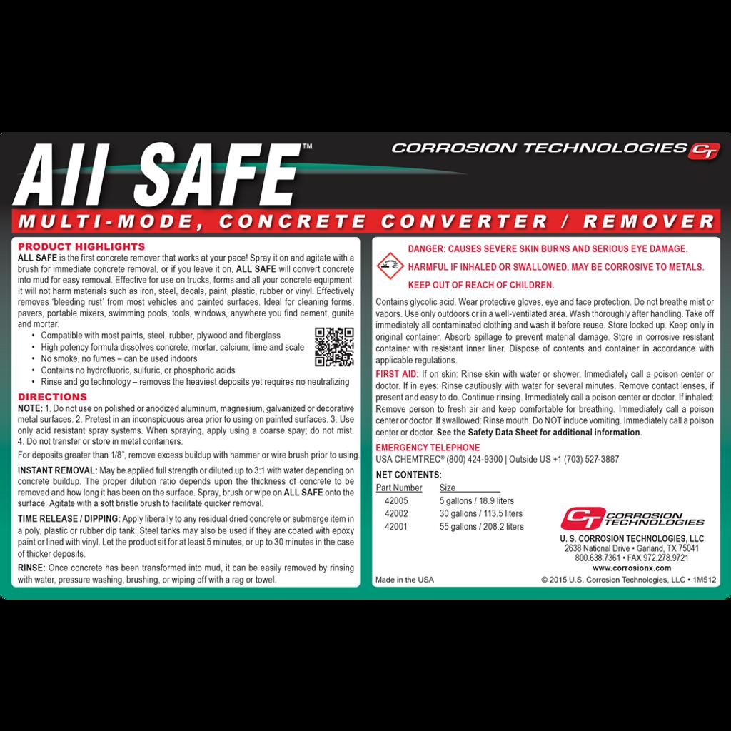 All Safe concrete remover / converter