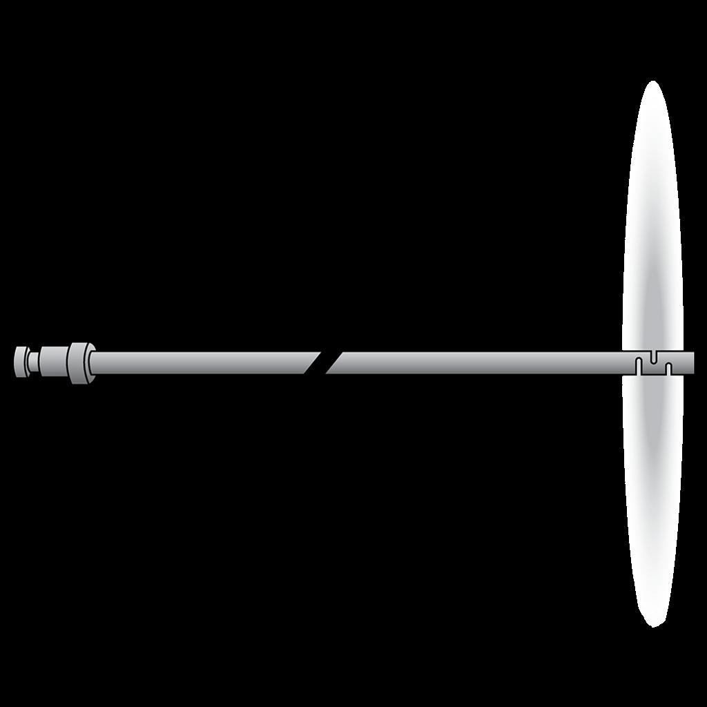 3 foot wand produces a 360˚ fan spray