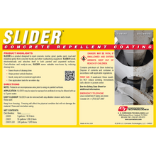 Slider concrete repellent coating for Ready Mix trucks and concrete equipment.
