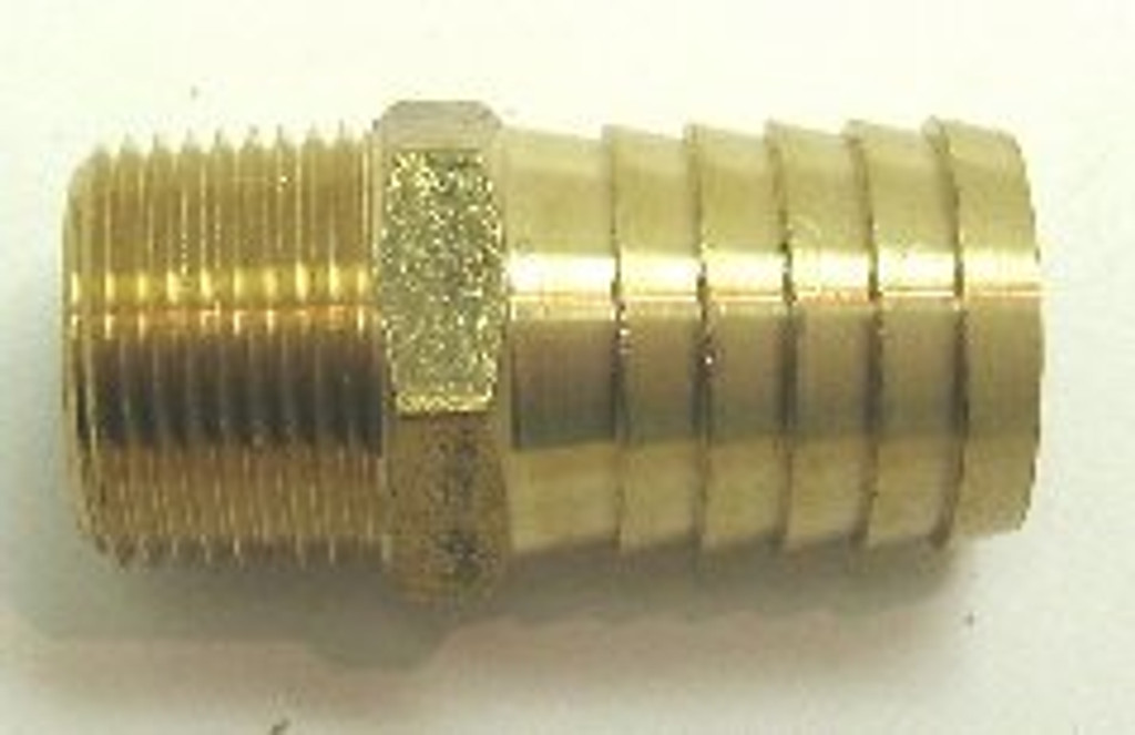 "Straight 3/4"" N.P.T to 1"" Hose fitting (brass),50-512-020"