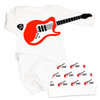 Personalized Name Game Guitar Playing Baby Set Red