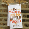 Personalized Little Turkeys Kitchen Towel