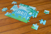 Personalized Jurassic Dino Puzzle Blue