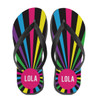 Personalized Burst Flip Flops: Bright Nights