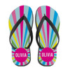 Personalized Burst Flip Flops: Bright Sky
