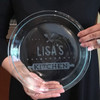 Personalized Home Cooking Glass Pie Plate