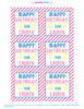 Personalized Happy Birthday Stickers: Party Time Pink