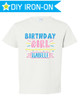 Personalized Birthday Iron On Transfer: Party Time Pink